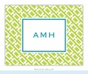 Chain Link Lime Folded Notes (set/25)