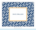 Chain Link Navy Folded Notes (set/25)