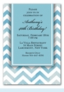 Chevron Blue Invitation