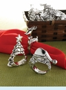 Christmas Metal Napkins Rings (3 styles)