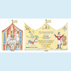 Circus Tent Tri-fold Invitation - click to enlarge