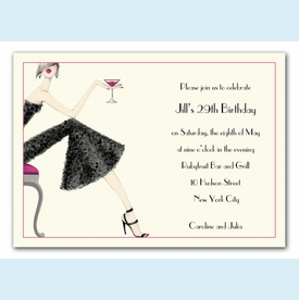 Cocktail Girl Invitation - click to enlarge