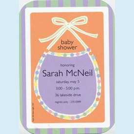 Colorful Bib Invitation - click to enlarge