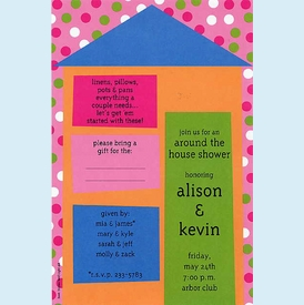 "Colorful Casa ""Around the House"" Invitation - click to enlarge"