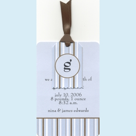 Coulter's Stripes Tag & Wax Bag Invitation - click to enlarge