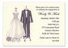Couple Dress Form Sparkled Invitation