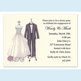 Couple Dress Form Sparkled Invitation - click to enlarge