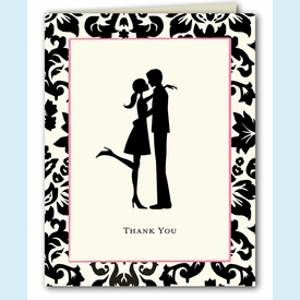 Couple in Love Thank You Notes - click to enlarge