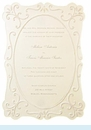 Cream Flocked Frame Invitation