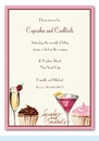 Cupcakes and Cocktails Invitation