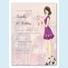Cute Champagne Girl Invitation - click to enlarge