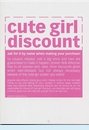 Cute Girl Discount Birthday Card
