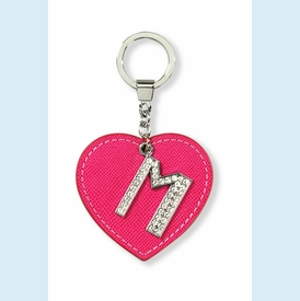 "Dazzle Initial ""M"" Key Chain - click to enlarge"