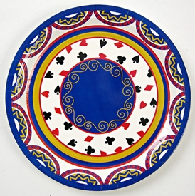"Deal the Cards 9"" Plates - click to enlarge"