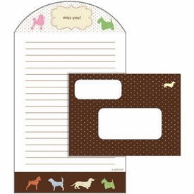 Dogs Glitter Fold & Seal Notes - click to enlarge