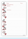 Double Recipe Card - Blender & Utensils, Red & Black