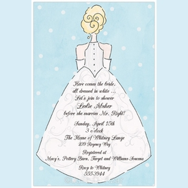 Elegant Blue Bride Invitation - click to enlarge