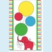 Elephant & Balloons Invitation - click to enlarge