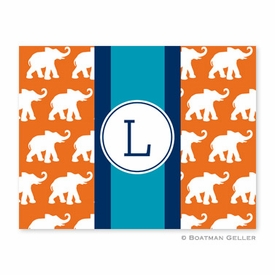 Elephants Ribbon in Orange Folded Notes (set/25) - click to enlarge