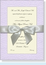 Embossed Lavender Bow Invitation