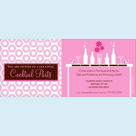 Fab Pink Cocktails Invitation - click to enlarge
