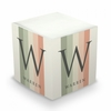 Farmhouse Stripe Personalized Sticky Note Cube