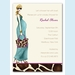 Fashionable Mom Blue Invitation (Blonde) - click to enlarge