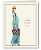 Fashionable Mom Blue Thank You Notes (Blonde)