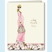 Fashionable Mom Pink Thank You Note (Blonde) - click to enlarge