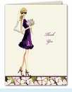 Floral Bride Thank You Notes