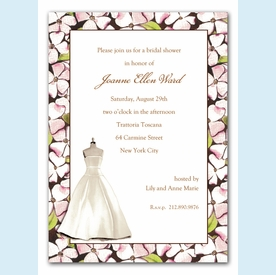 Floral Dress Form Invitation - click to enlarge