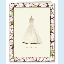Floral Dress Form Thank You Notes - click to enlarge