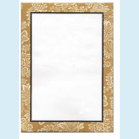 Floral Tan Note Sheets - click to enlarge