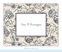 Floral Toile Cream Folded Notes (set/25)
