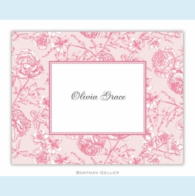 Floral Toile Pink Folded Notes (set/25) - click to enlarge
