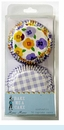 Gingham and Pansy Pattern Cupcake Cases
