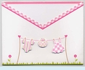 Girl Clothesline Swaddle Invitation