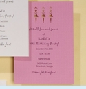 Girlfriends Pink Lasercut Invitation