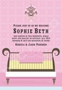 Glamour Baby Crib Pink Invitation