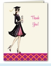 Gorgeous Grad Thank You Notes - Brunette