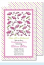 Grad Caps Flying Pink Large Flat Invitation