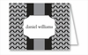 Gray/Black Herringbone Note Cards