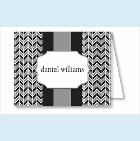 Gray/Black Herringbone Note Cards - click to enlarge
