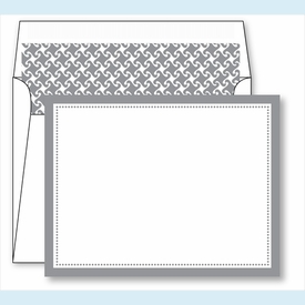 Gray Border Small Flat Cards w/Coordinating Liner - click to enlarge