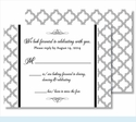 Gray Scallop Small Flat Cards
