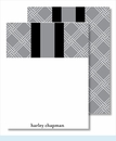 Gray/White Weave w/Black/Gray Stripe Small Flat Cards