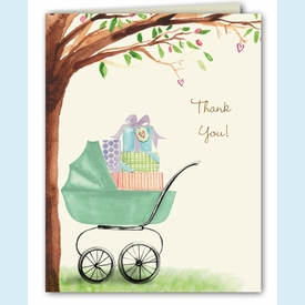 Green Beautiful Bassinet Thank You - click to enlarge