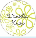 Green Mod Flower Personalized Magnet