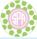 Green/Pink Spot Personalized Mirror