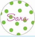 Green Polka Dot Personalized Magnet